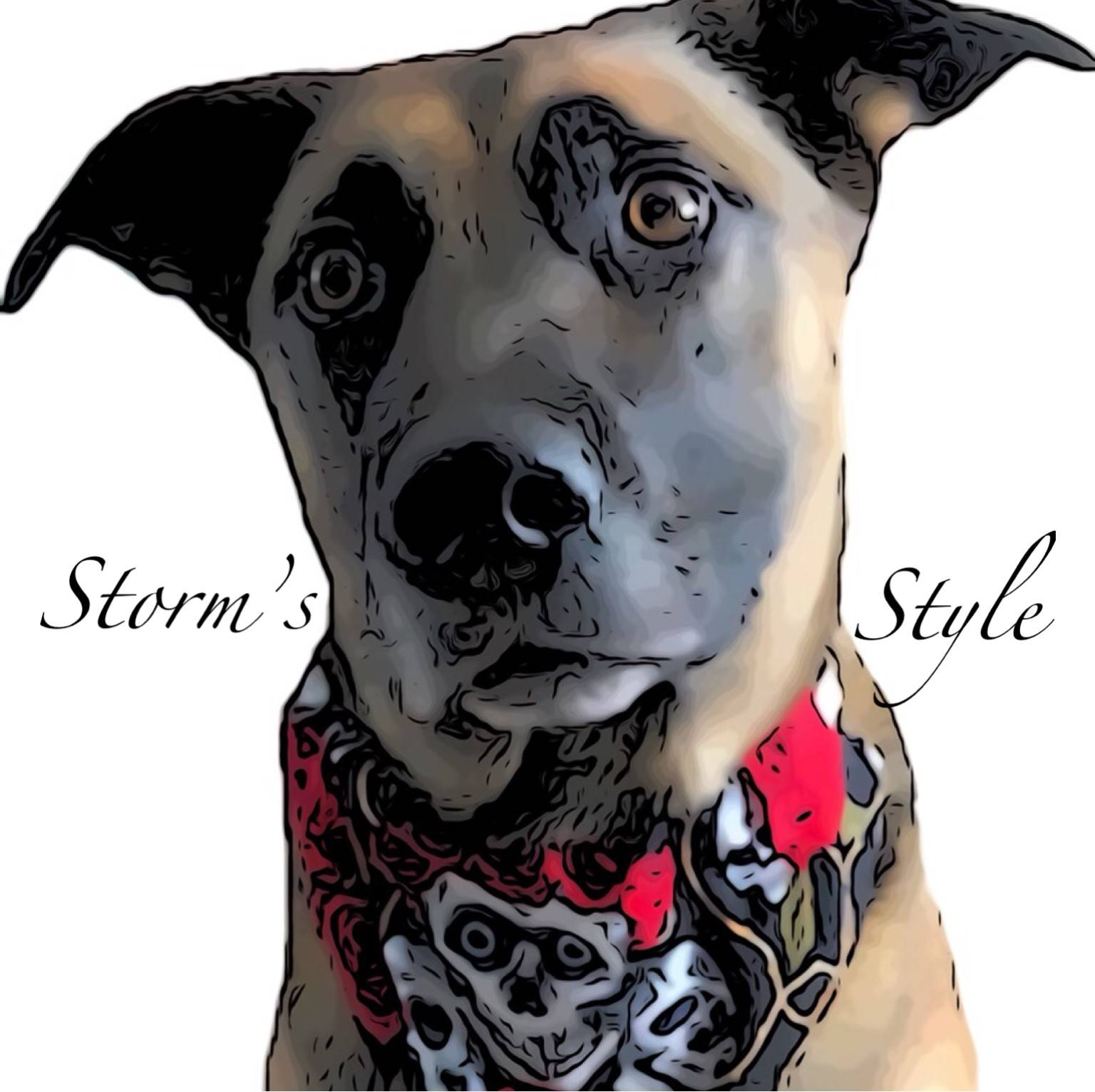 Custom dog bandana logo