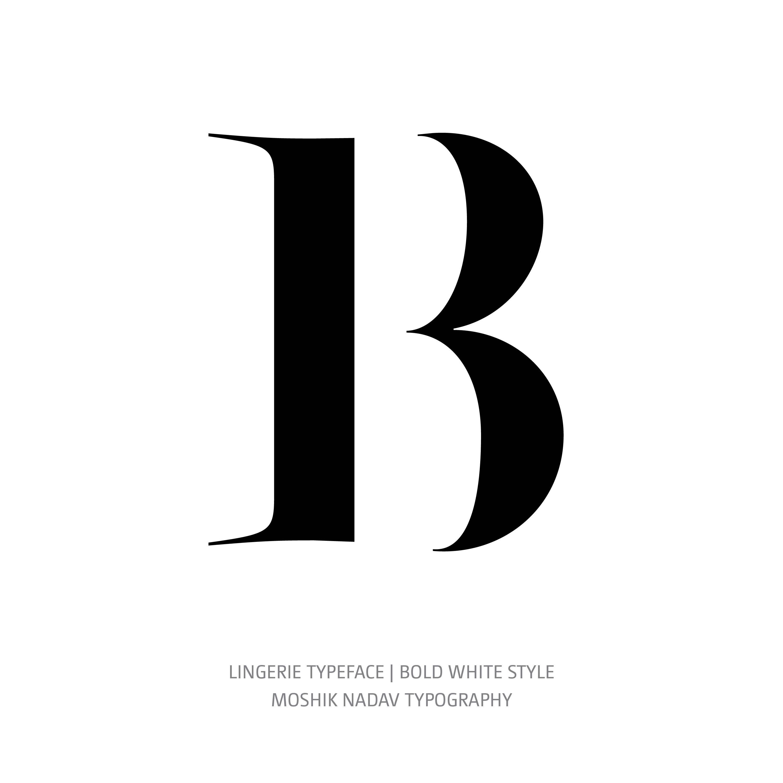 Lingerie Typeface Bold White B