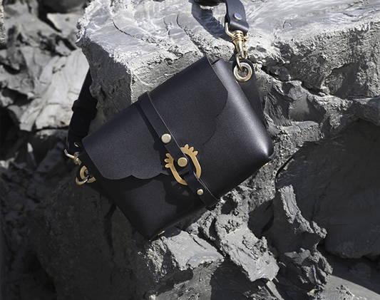 a bag on the rocks
