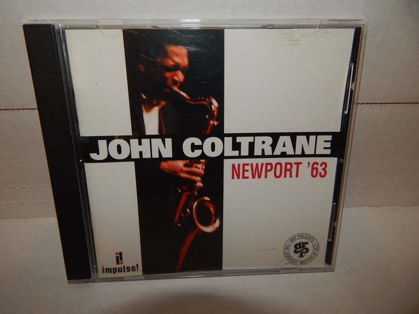 JOHN COLTRANE NEWPORT '63 Eric Dolphy - McCoy Tyner Jimmy Garrison Roy Haynes 1993 GRP Impulse NM CD