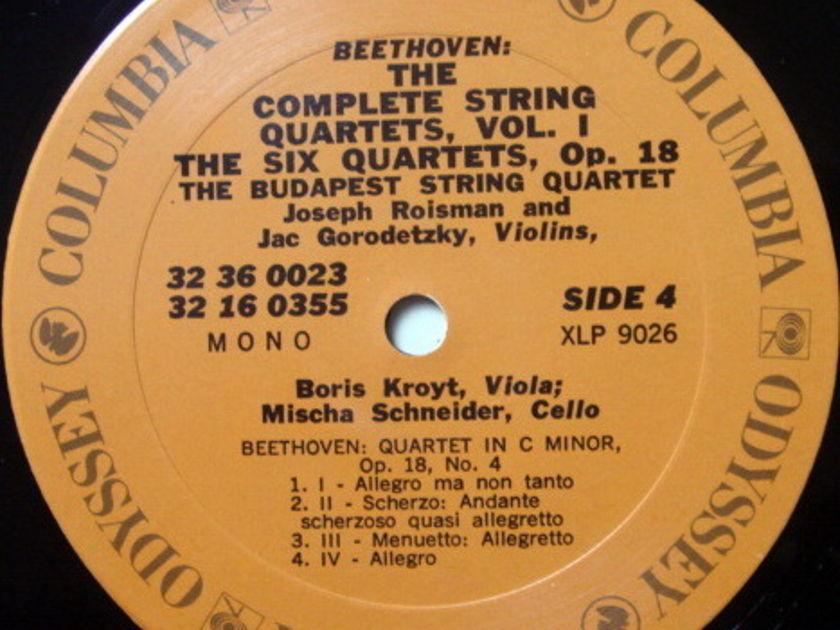 Columbia Odyssey / BUDAPEST QT, - Beethoven The Six Quartets Op.18, MINT, 3LP Box Set!