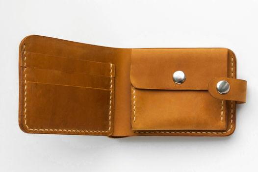 """кошелек """"Compact"""" из натуральной кожи"""