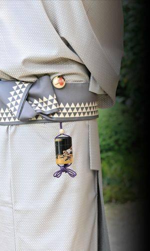 netsuke attached to obi belt
