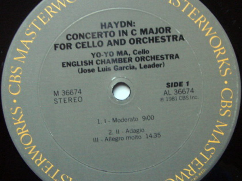 CBS / YO-YO MA-GARCIA, - Haydn Cello Concertos No.1 & 2, NM!