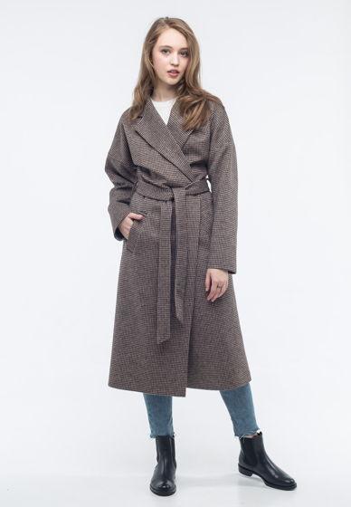 Пальто-халат гречка твид