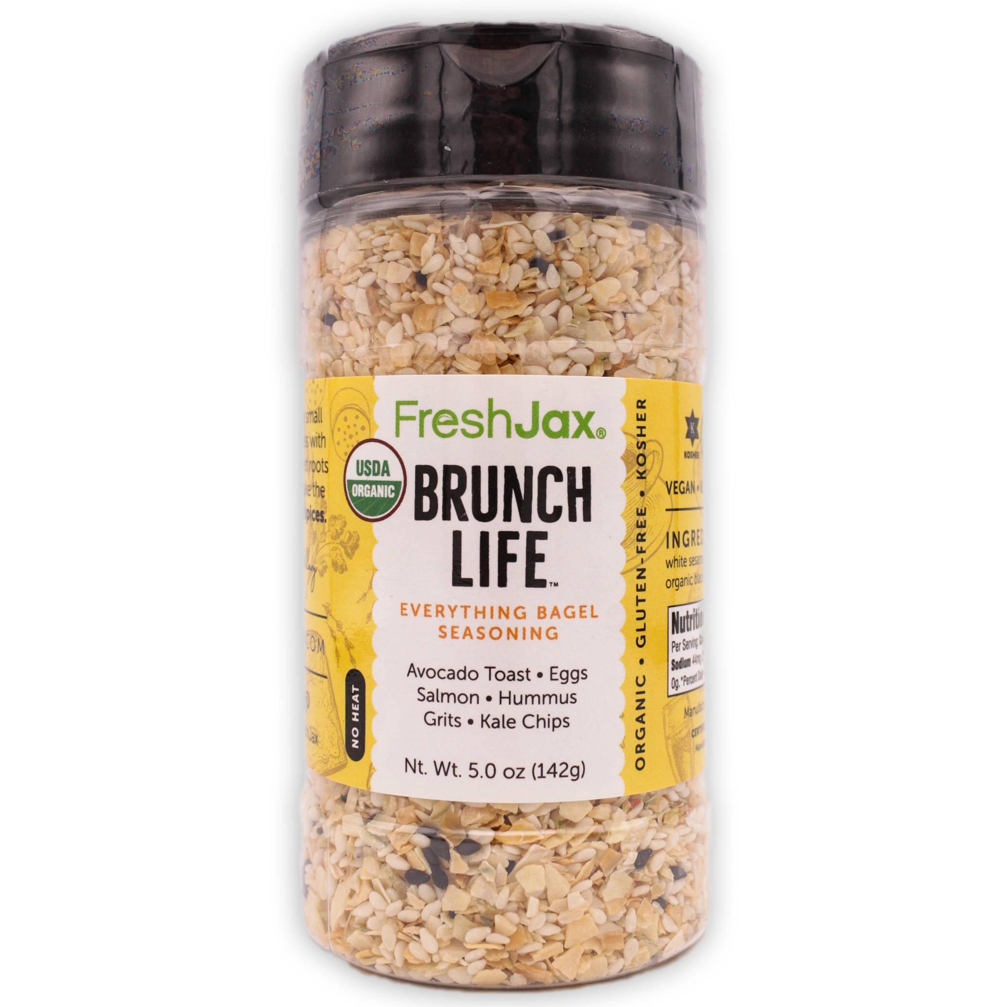 FreshJax Organic Spices Brunch Life Everything Bagel Seasoning large bottle