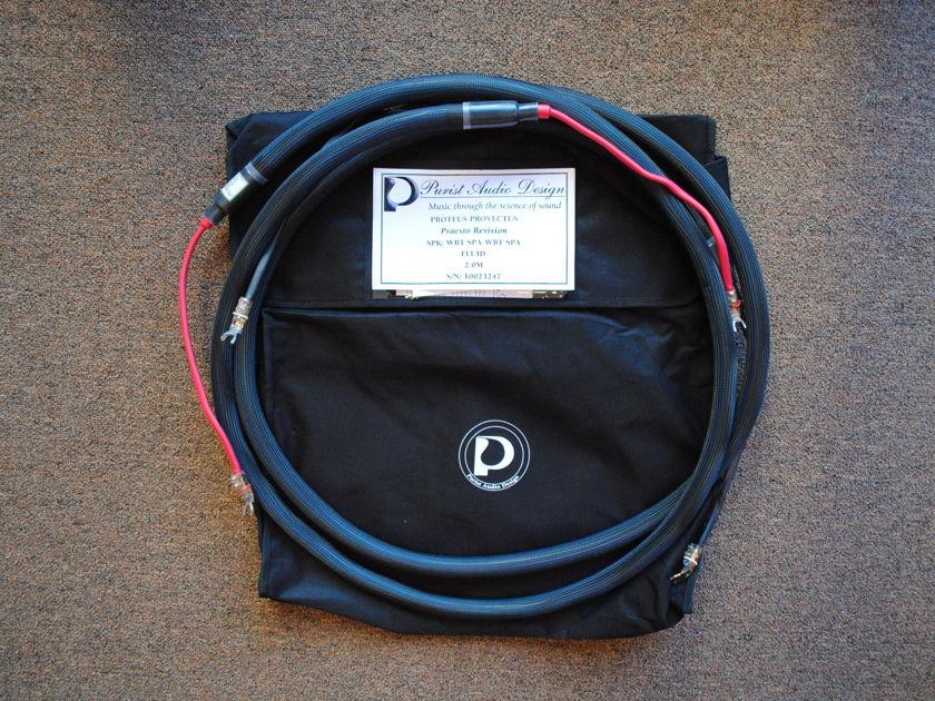 Purist Audio Design 2M Proteus Provectus Praesto Revision Speaker Cables