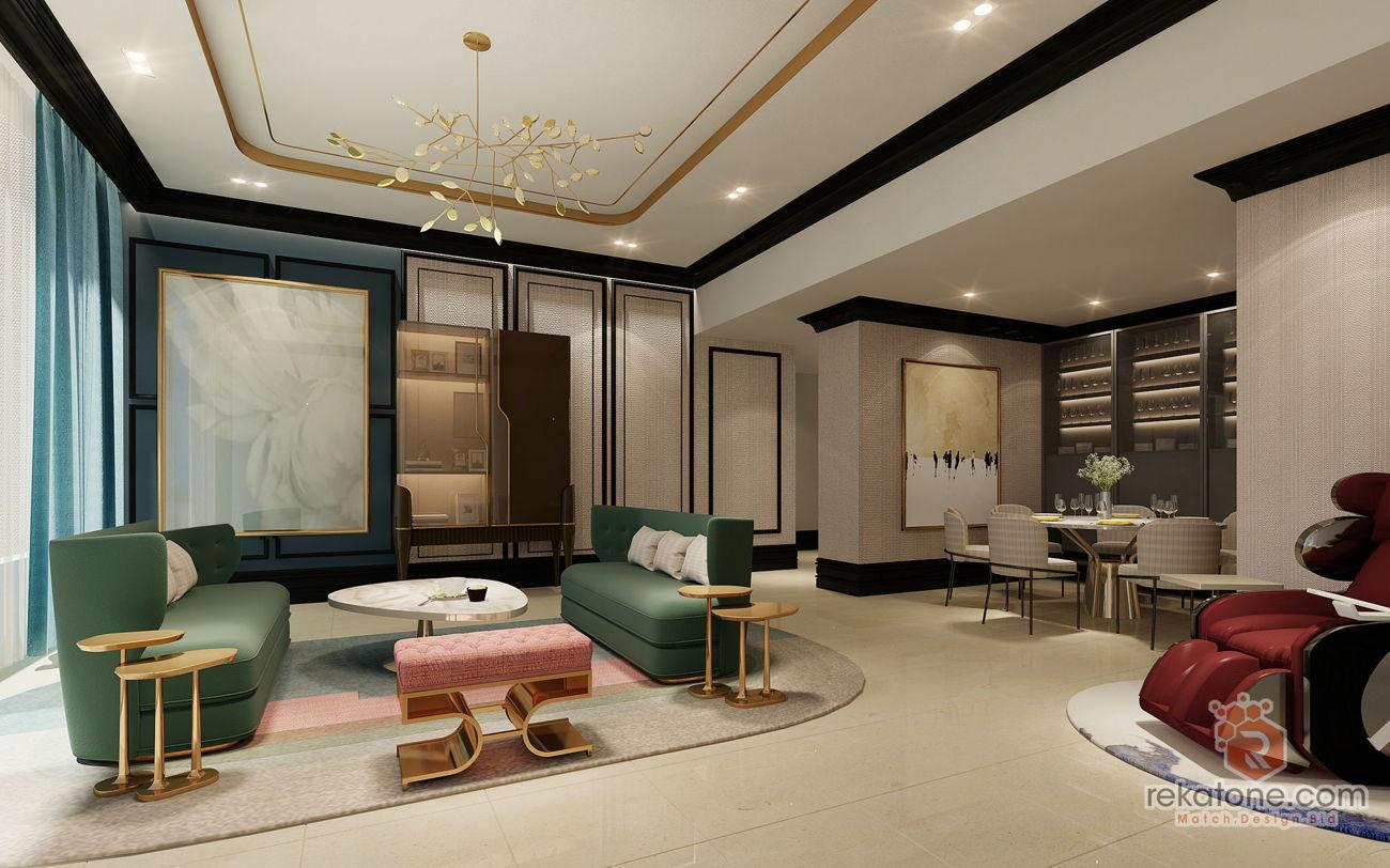 ornate-wall-living-room