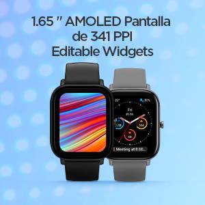 Amazfit GTS - Pantalla AMOLED y widgets editables