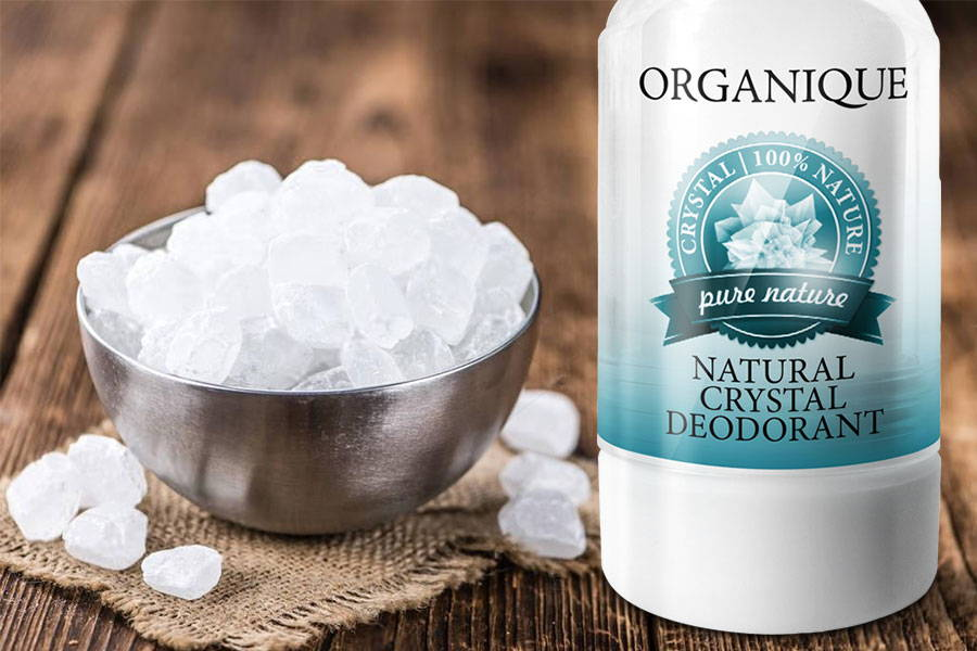 Natural Crystal Deodorant Alun Organique cosmetics brand