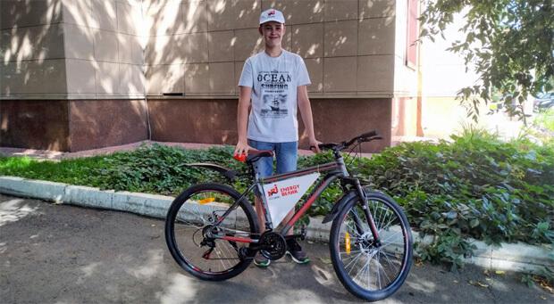 Барнаульская радиостанция ENERGY подарила велосипед своему слушателю - Новости радио OnAir.ru