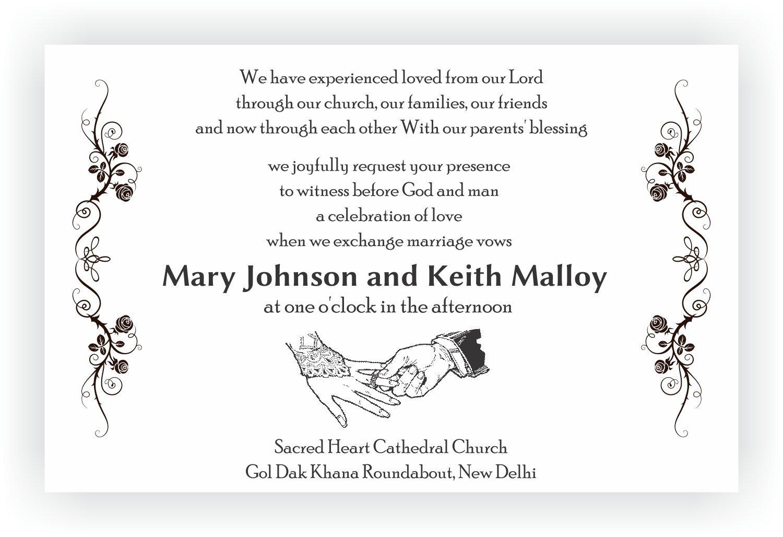 Religious Wedding Invitation Wording