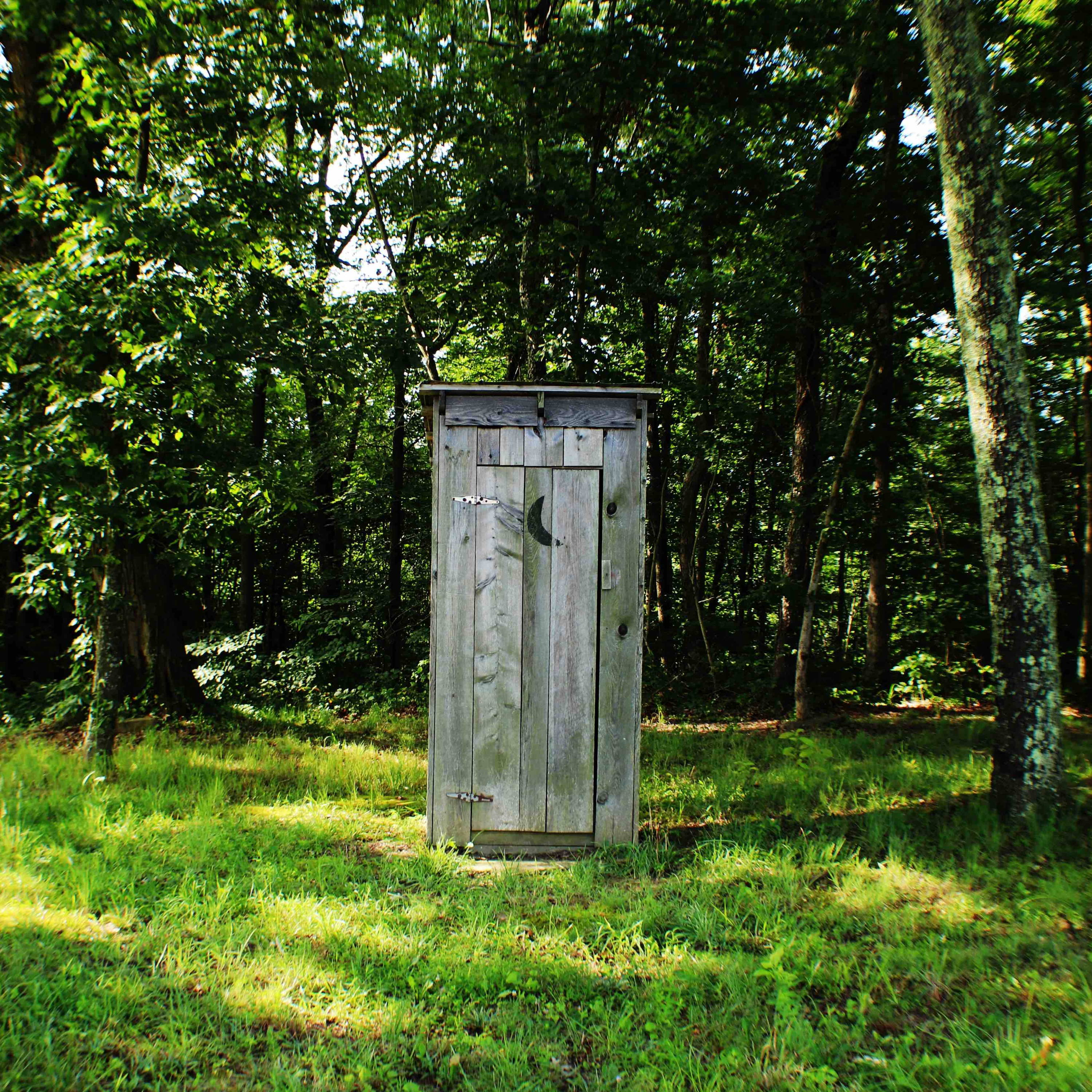 Outdoor toilet shed