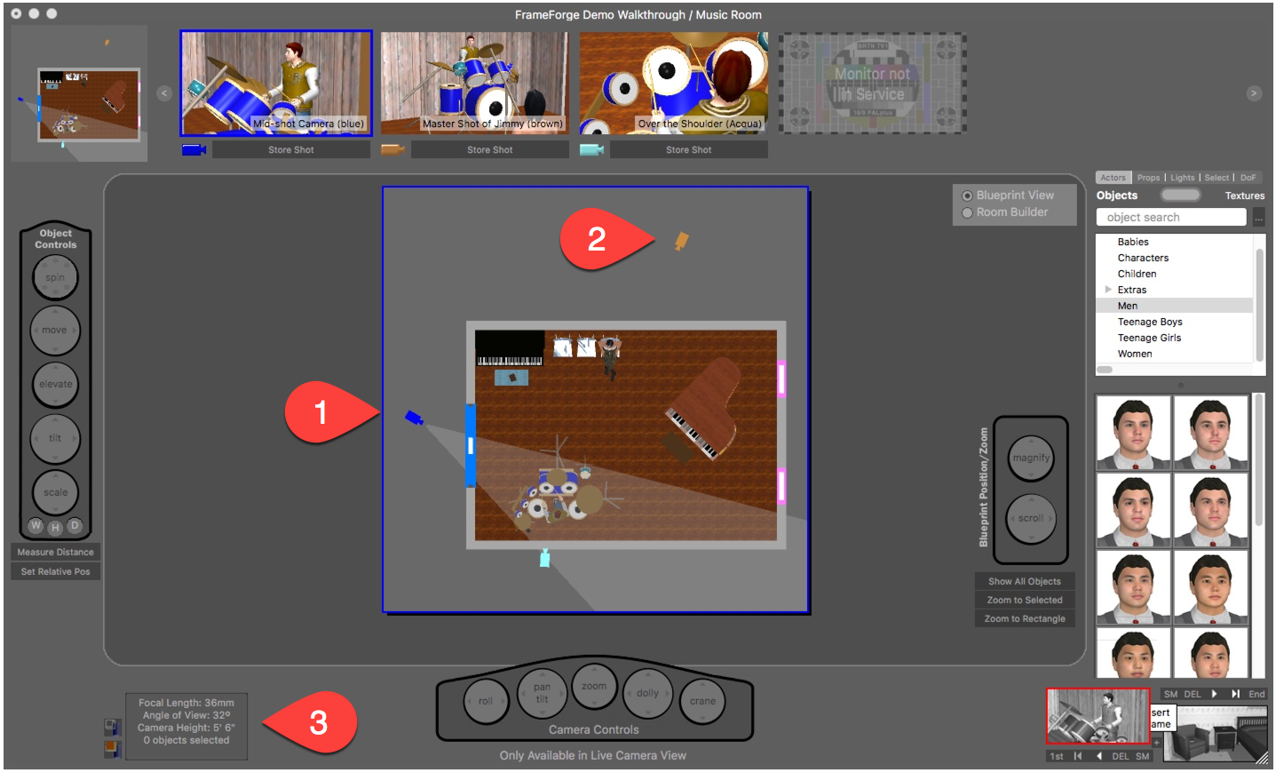 Blueprint View - FrameForge