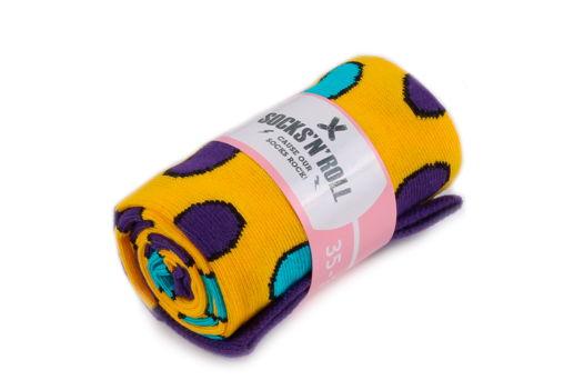 Женские носки с разноцветными горошинами Socks'N'Roll - Big Multicolor Dots