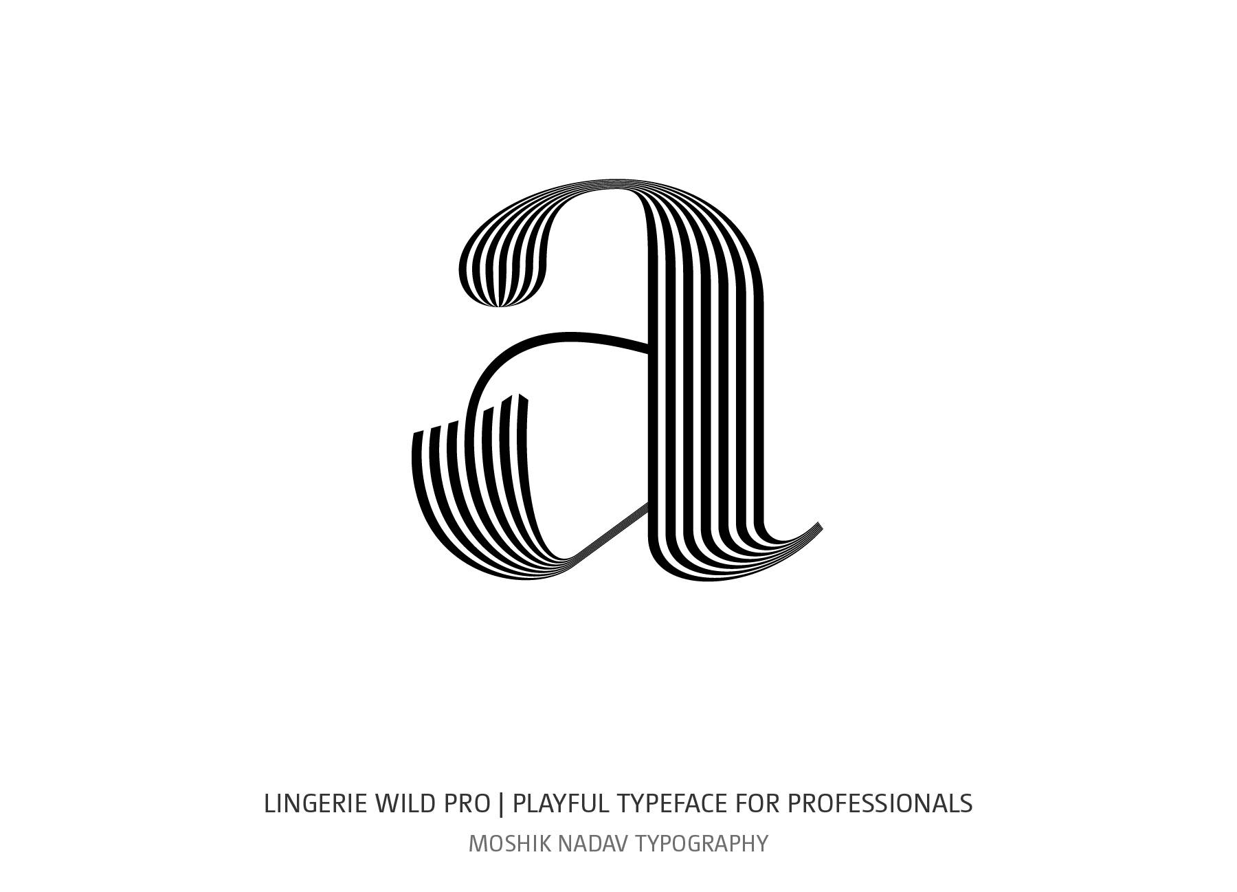 Lingerie Wild Pro Typeface designed for sexy logos and fashion typography