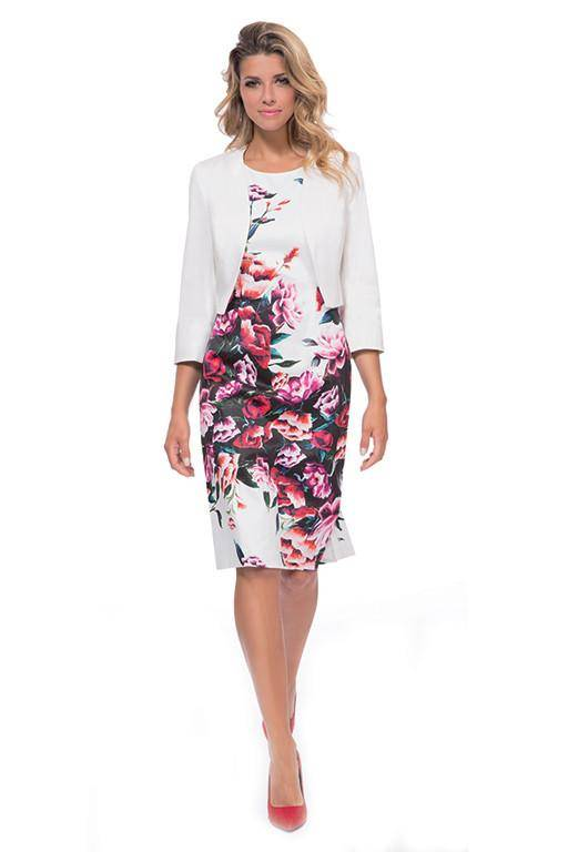 MICHAELA LOUISA 8406 FLORAL PRINT DRESS