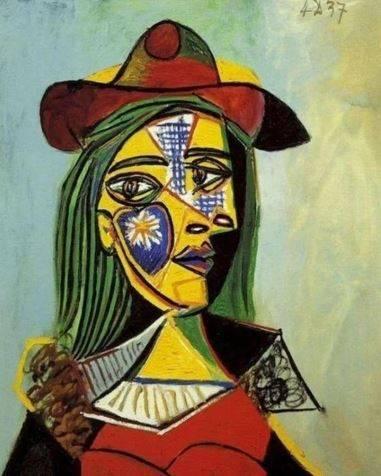 peinture par numéro la femme au chapeau