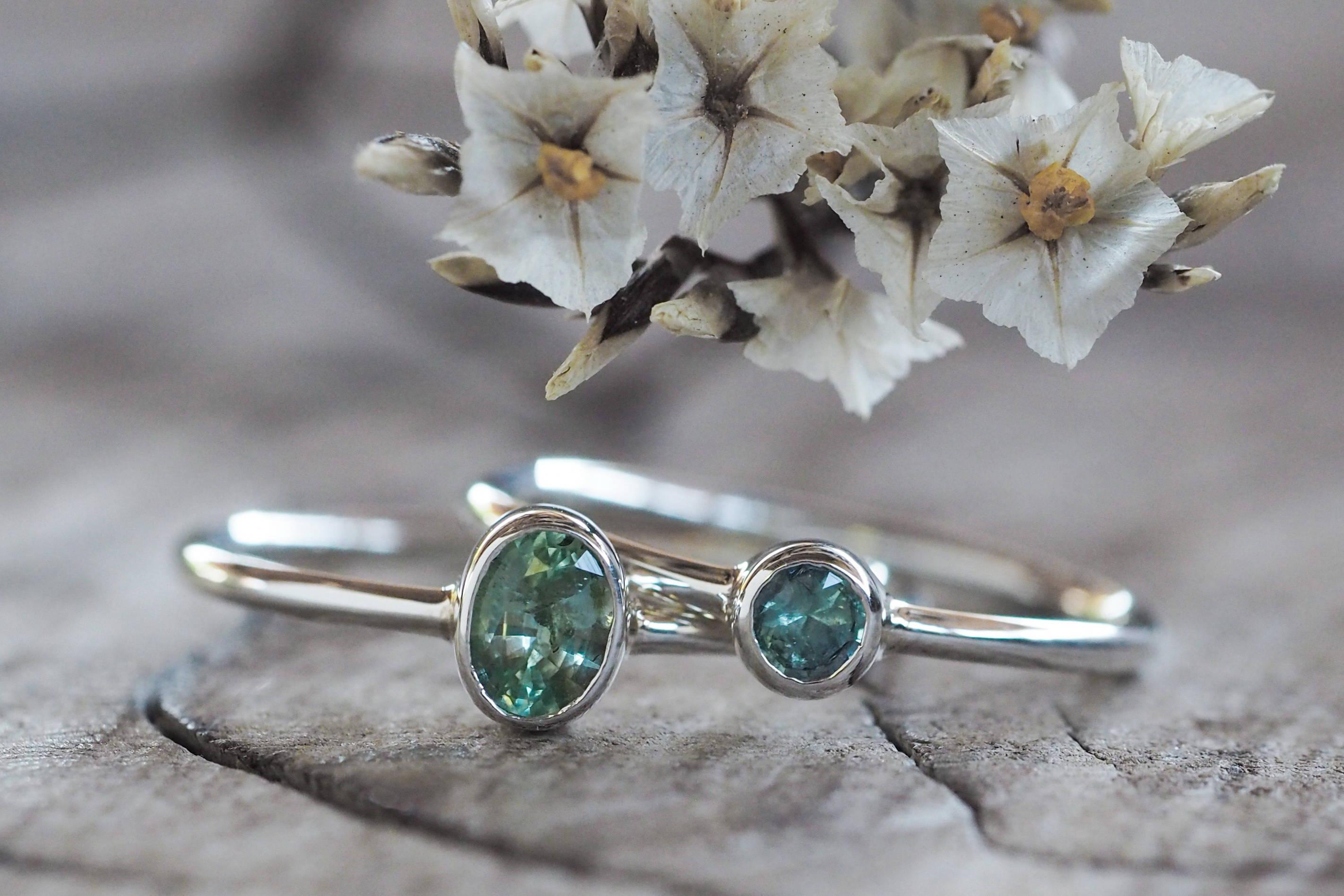 Silver kornerupine rings