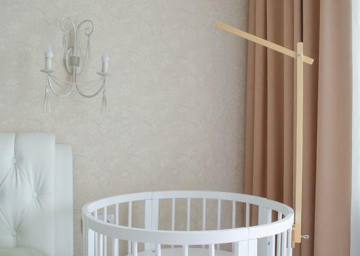 Деревянный держатель для мобиля на детскую кроватку ручной работы