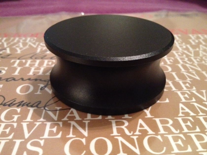 Solid Black Anodized Aluminum 400g Record Weight Extremely Nice!  As New!