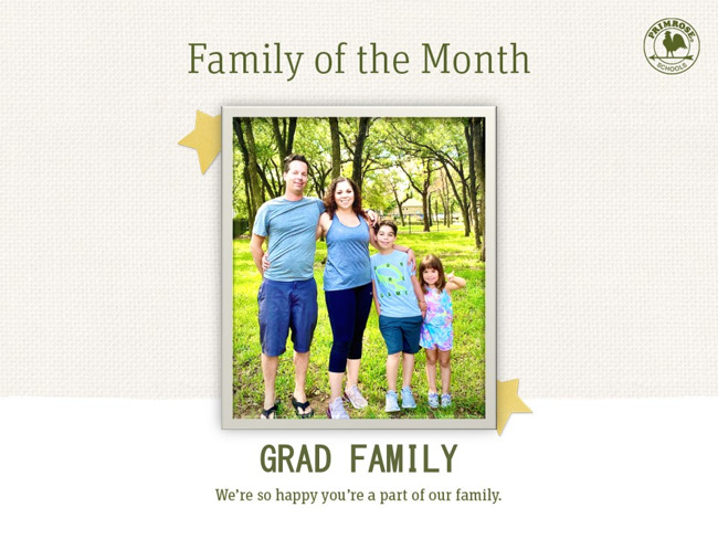 Grad Family of the Month