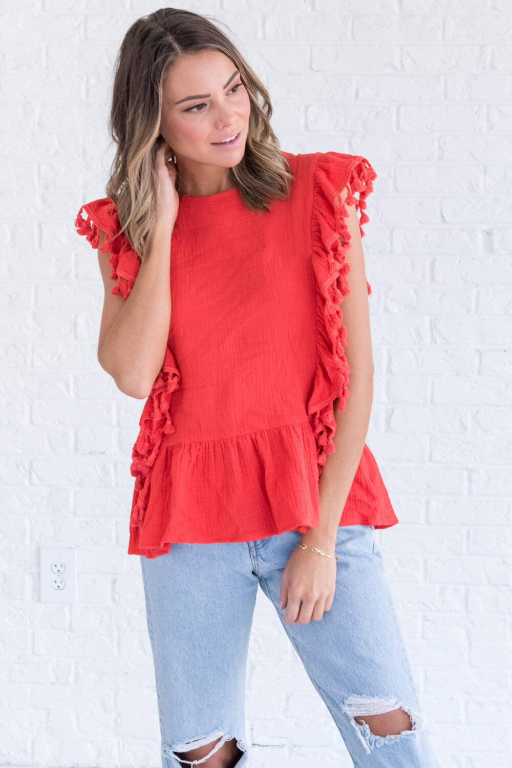 Summer Reading List 2018 bohemian red top