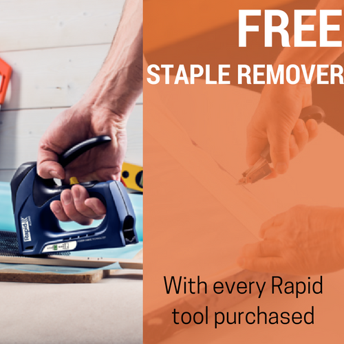 Free staple remover with every rapid tool purchased