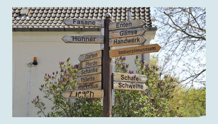 alte fasanerie berlin wegschild