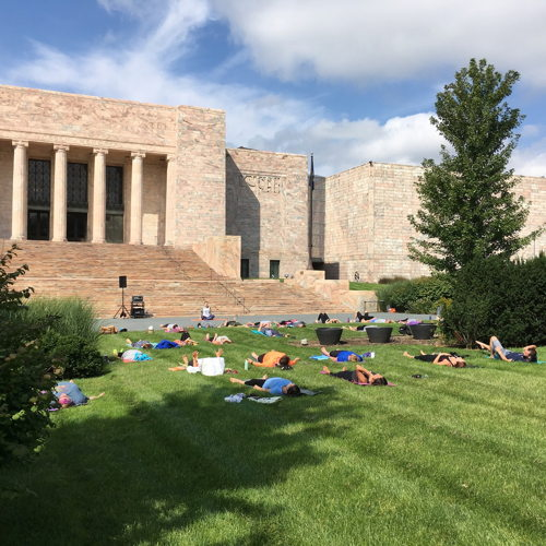 Picture of Wake up with this hour-long yoga session. Instructors from YOGA NOW will guide participants through basic poses to help strengthen your body and center your mind.