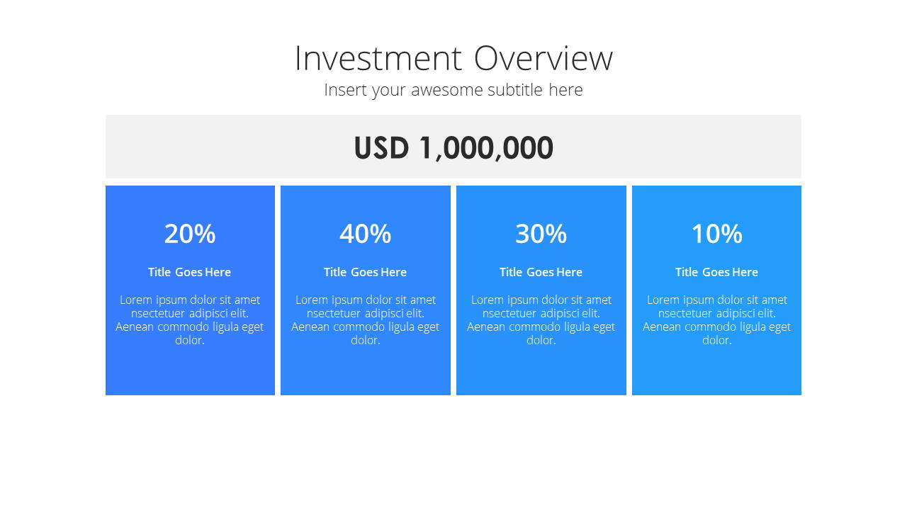 Modern X Pitch Deck Presentation Template Investment Overview