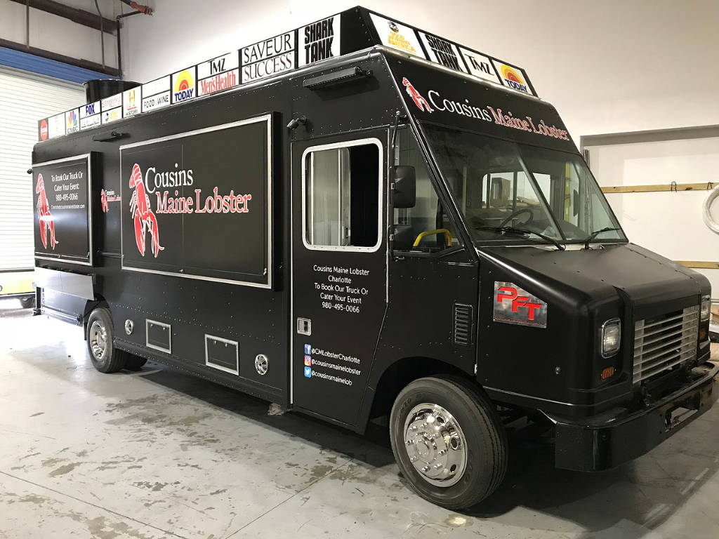 Cousins Maine Lobster Food Truck with Diesel Generator
