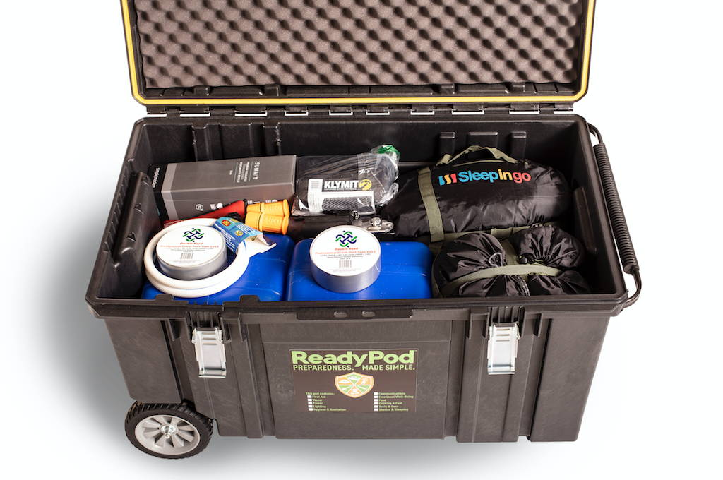 ReadyPod™ prep kits include complete systems for shelter, sleeping, and potable water