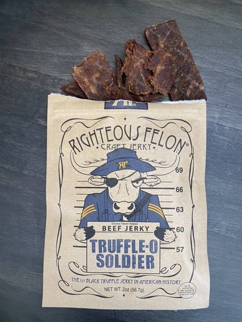 Righteous Felon Truffle-O Solider JerkyGent Beef Jerky