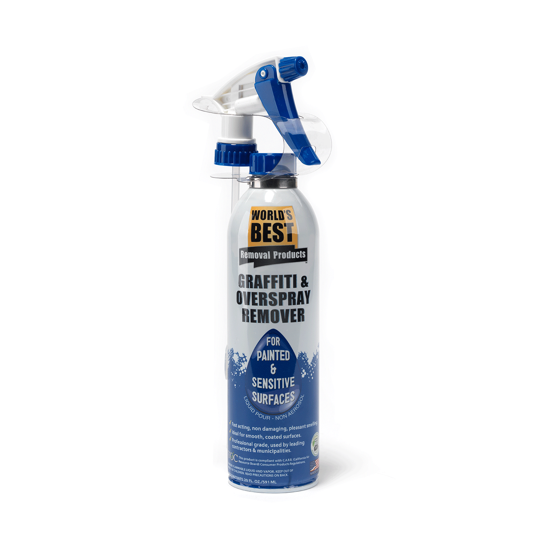 sensitive surface graffiti remover spray can