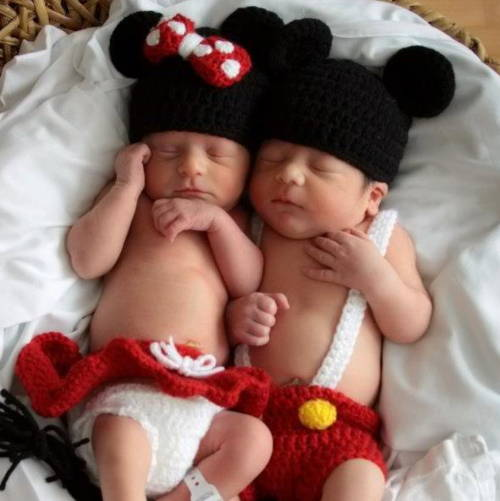 preemie baby as mickey mouse minnie mouse  halloween costume in the NICU