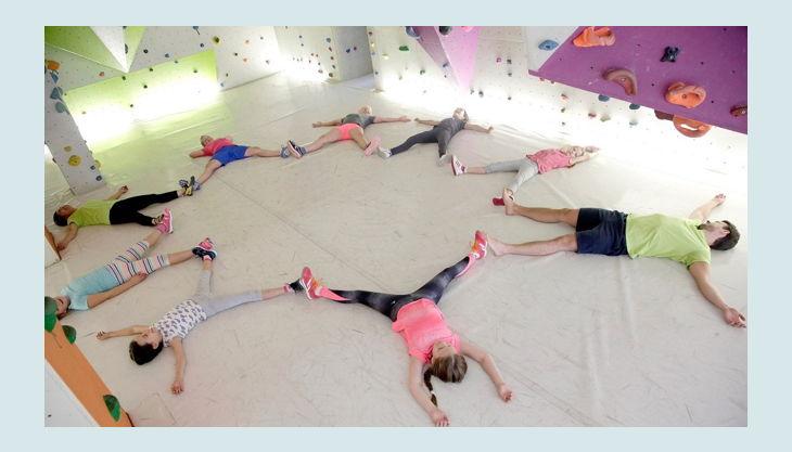 kletterhalle bergwerk yoga pause