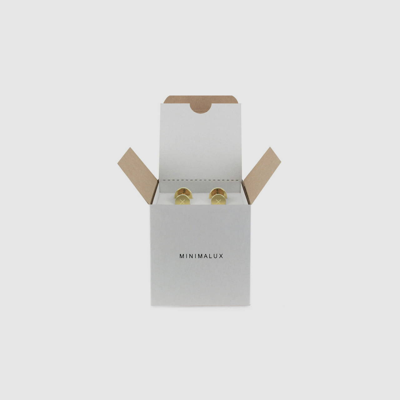 Polished Brass Cufflink packaging