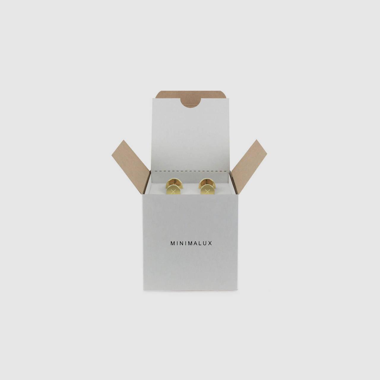 Polished Brass Cufflink packaging