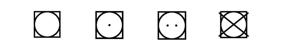 Pflegesymbol Trocknersymbole Hinweis Snocks