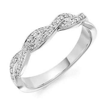 Half eternity rings from Pobjoy Diamonds Surrey