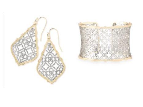Kendra Scott Silver Earrings and Bangle Bracelet