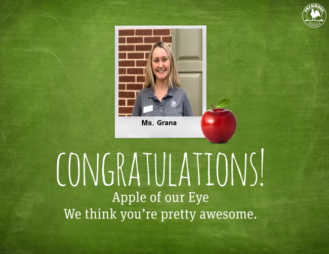 """The """"Apple of our Eye"""" at Primrose School of Friendswood"""