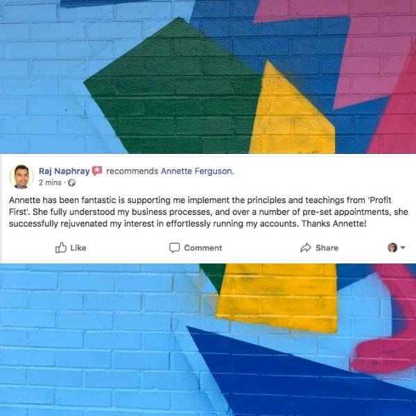 Raj Naphray Facebook Review of Annette Ferguson