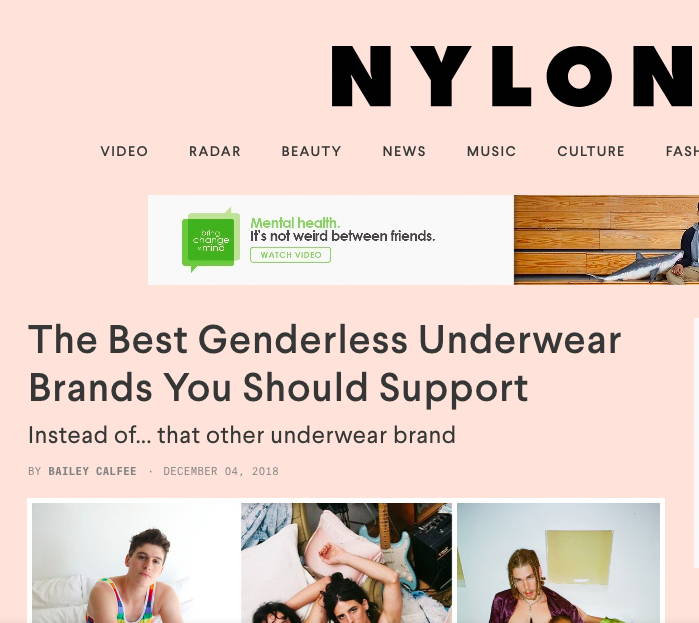 Nylon logo best genderless underwear brands article 2018