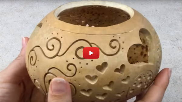 Watch Video #3 - Create Beautiful Carved Gourds With the Fili-Point Burr!