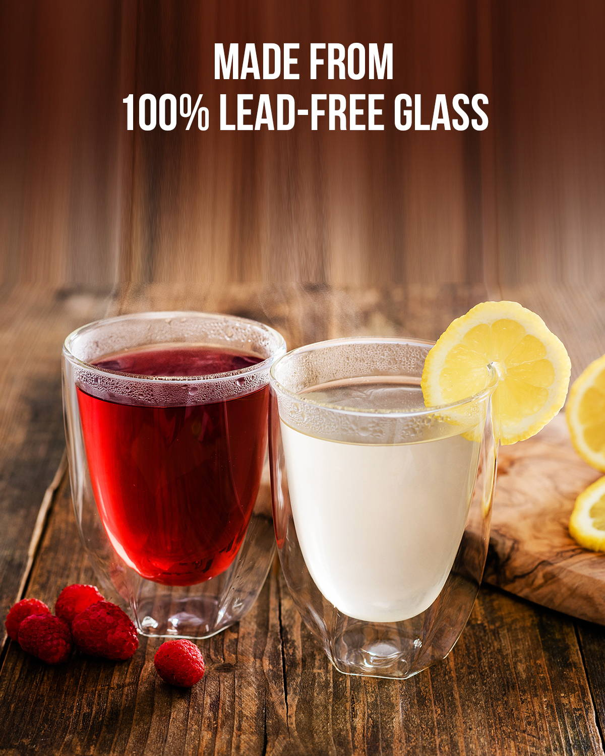 Made from 100% Lead-Free Glass