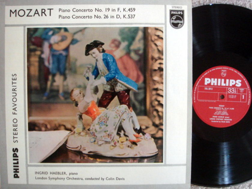 Philips UK / HAEBLER, - Mozart Piano Concerts No.19 & 26, MINT, Early UK Press!