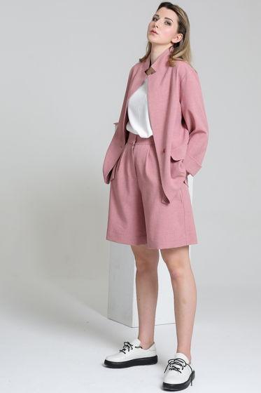 Пиджак с английским воротником из льна
