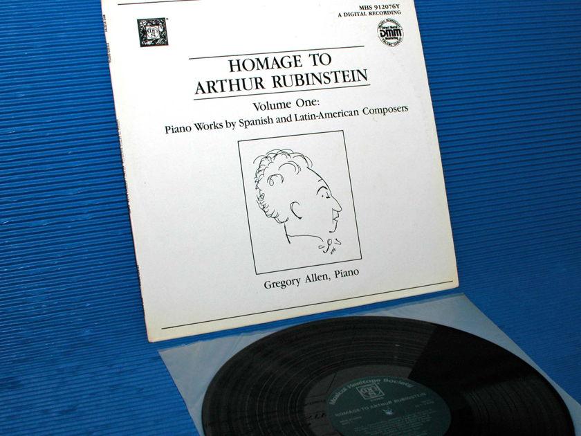 "VARIOUS/Allen -  - ""Homage to Artur Rubinstein"" -  Musical Heritage Society DMM"